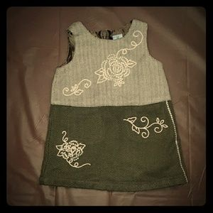 5/$25 Koala Kids 12m tan & brown fall/winter dress